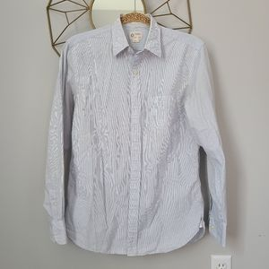 J. Crew 2-ply cotton striped dress shirt